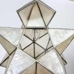 Image of Four Capiz Star-Shaped Pendant Lights