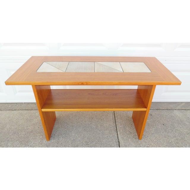 Gangso mobler denmark teak tile sofa table chairish