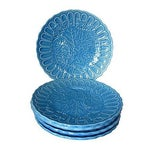 Image of Periwinkle Blue Grapevine Snack Plates - Set of 5