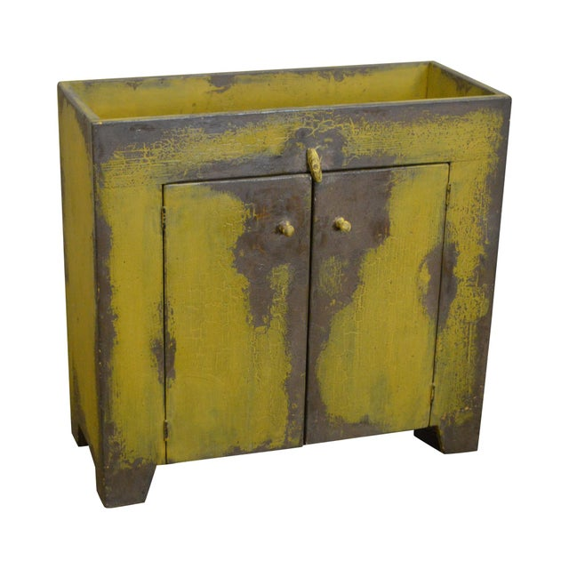 Primitive Distressed Painted Country Small Dry Sink Cabinet - Image 11 of 11