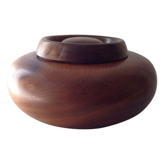 Vintage Wooden Lidded Bowl