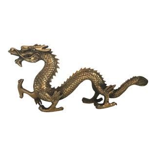 Mid-Century Brass Dragon Statue