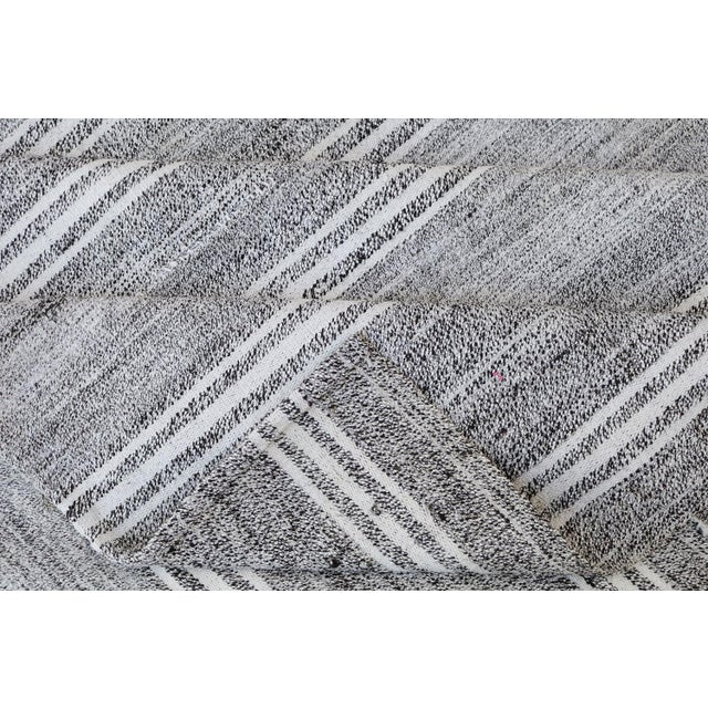 "Turkish Vintage Flat-Weave Rug - 7'3"" x 10' - Image 4 of 4"