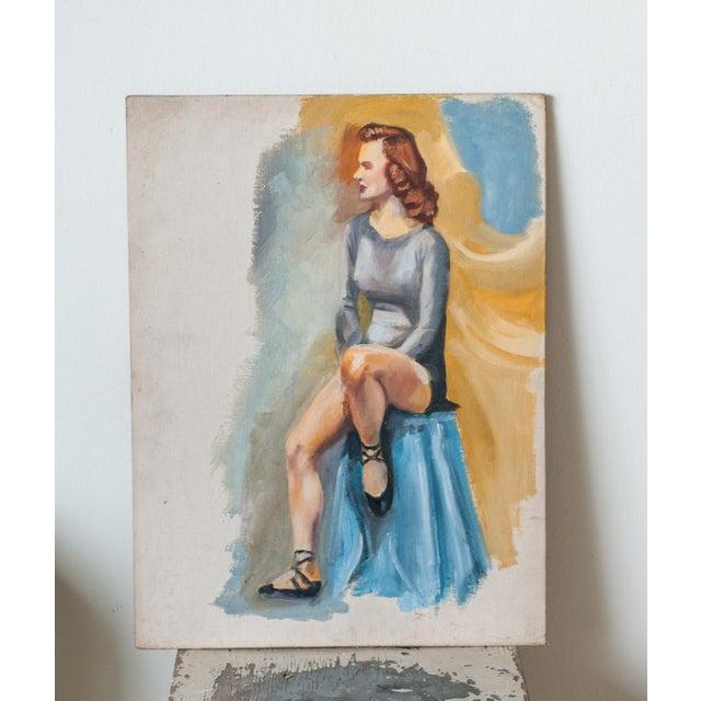 Vintage Dancer Oil Painting - Image 2 of 5