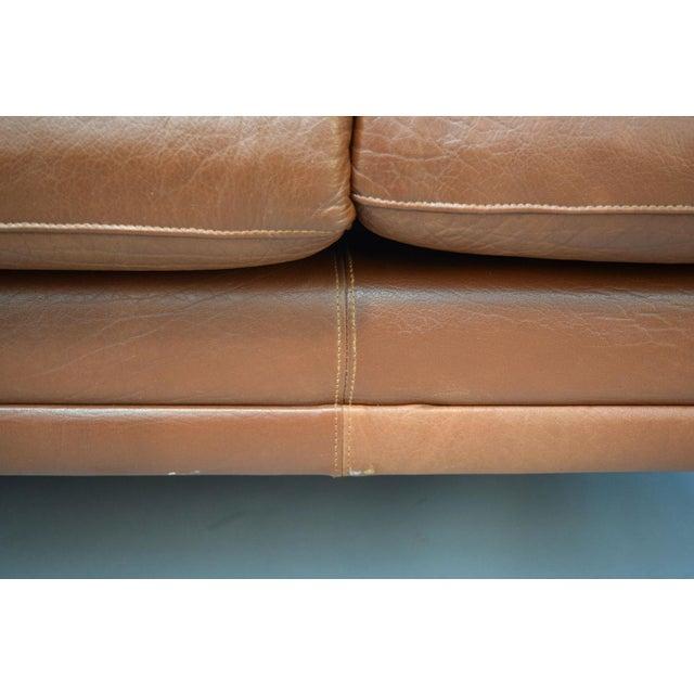 On Hold - Borge Mogensen Style Danish 3 Seater Leather Sofa - Image 8 of 10