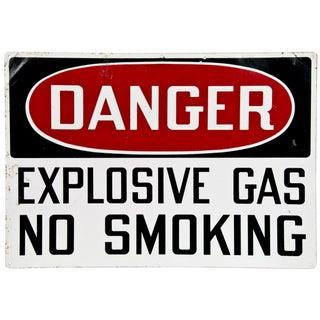 Vintage Metal Sign: Danger Explosive Gas
