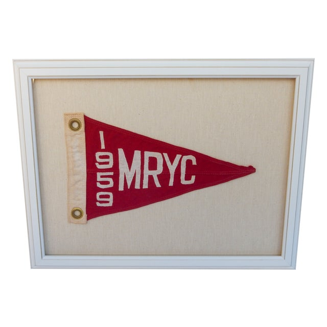 1959 Yacht Club Boat Race Flag - Image 1 of 3