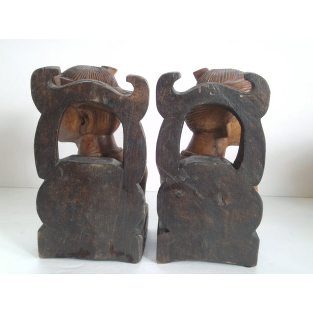 Hand Carved Wooden Bookends - Image 8 of 11