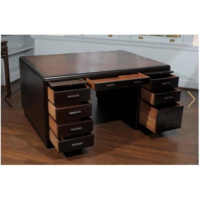 Art Deco Pedestal Desk - Image 4 of 7