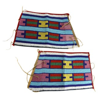 Pair of Crow Indian Beaded Women's Leggings, circa 1910