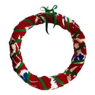 Ikat Holiday Wreath