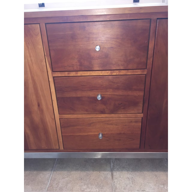 Room & Board Cherry Wood Custom Credenza - Image 4 of 10