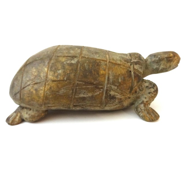 Bronze African Ashanti Akan Sculpture - Turtle - Image 4 of 8