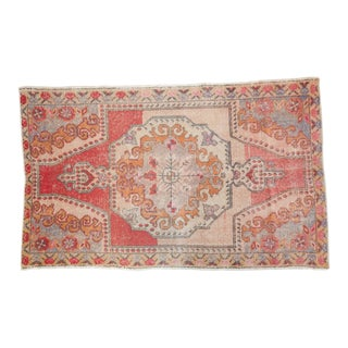 "Vintage Distressed Oushak Rug - 4'6"" x 7'1"""