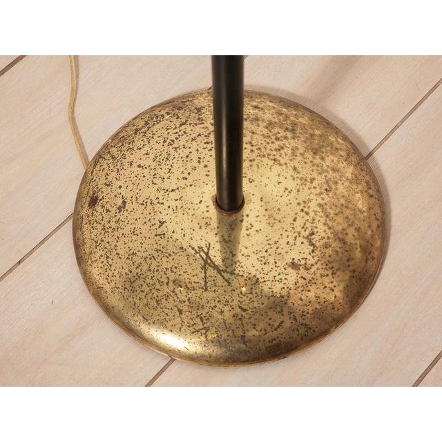 Image of Brass & Black Enamel Modernist Floor Lamp