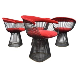 Warren Platner Knoll Bronze  Chairs - Set of 4