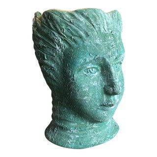 Vintage Sculptural Face Vase