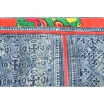 Image of Faded Blues And Reds Hmong Blanket