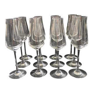 Château Baccarat Champagne Flutes - Set of 12