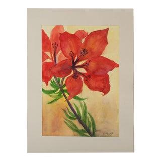 Vintage Watercolor Christmas Flower