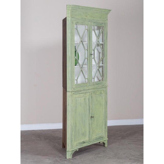 Antique English Painted Georgian Corner Cabinet circa 1840 - Image 4 of 11