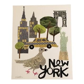 Collage Print of New York City