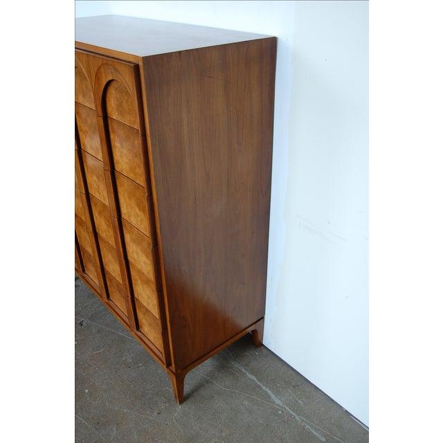 Mid Century Thomasville Sculptural Highboy Dresser - Image 7 of 11
