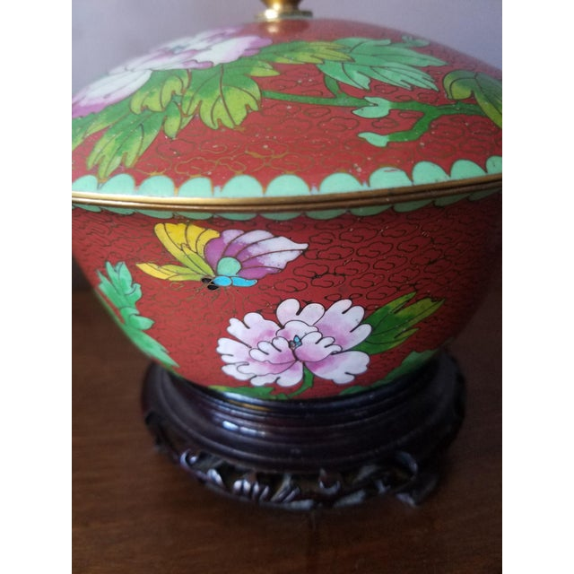 Chinese cloisonne bowl on stand chairish for Cloison stand