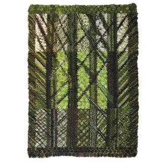 Vintage Marianne Richter Rya Forest of Wool Rug - 5′7″ × 7′7″