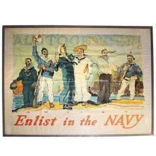 Antique Navy Poster, 1917