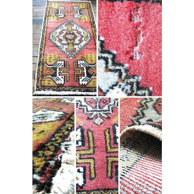 "Image of Pink Vintage Turkish Rug - 1'8"" x 3'2"""