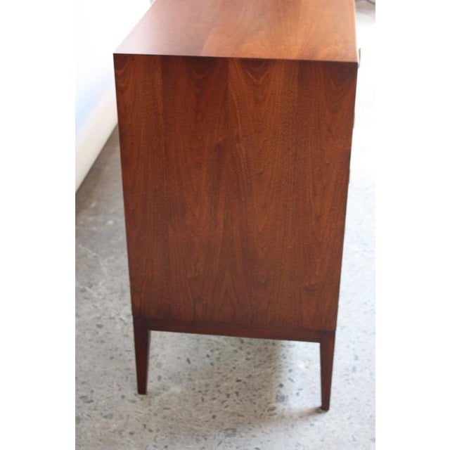 Mid-Century Walnut and Brass Credenza after Paul McCobb - Image 7 of 10