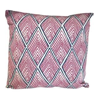 Kim Salmela Fuchsia & Navy Geometric Pillow