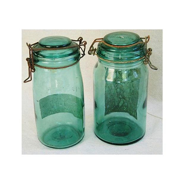 Early 1900s French Preserve Canning Jars - Pair - Image 4 of 6