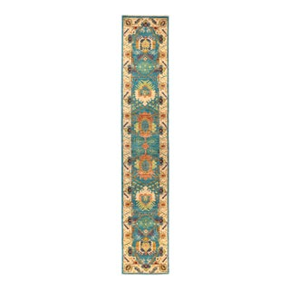 """Eclectic Hand Knotted Runner Rug - 2' 7"""" X 14' 1"""""""