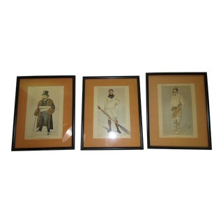 1890's Framed Vanity Fair Covers - Set of 3
