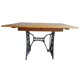 Sewing Machine Base Drop Leaf Table