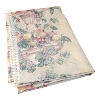 Vintage Polished Cotton Print Tablecloth