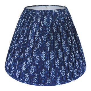 Indigo Blue Block Print Fabric Shade