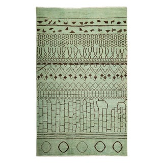 """Moroccan, Hand Knotted Area Rug - 6'0"""" X 9'3"""""""
