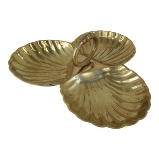 Brass Scallop Candy Dish