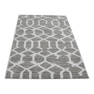 Gray Lattice Small Mat- 2′8″ × 5′