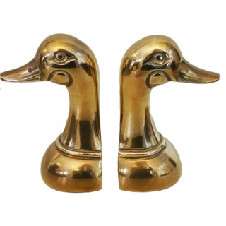 Solid Brass Bird Bookends