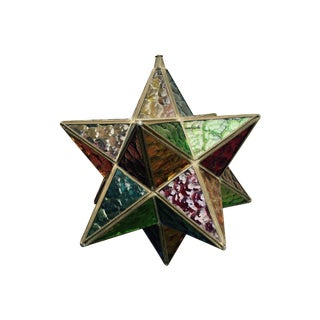 Turn of the Century Multi Colored Glass Stellate