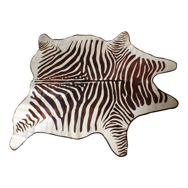 Vintage Zebra Hide Rug 6 3 Quot X 6 10 Quot Chairish