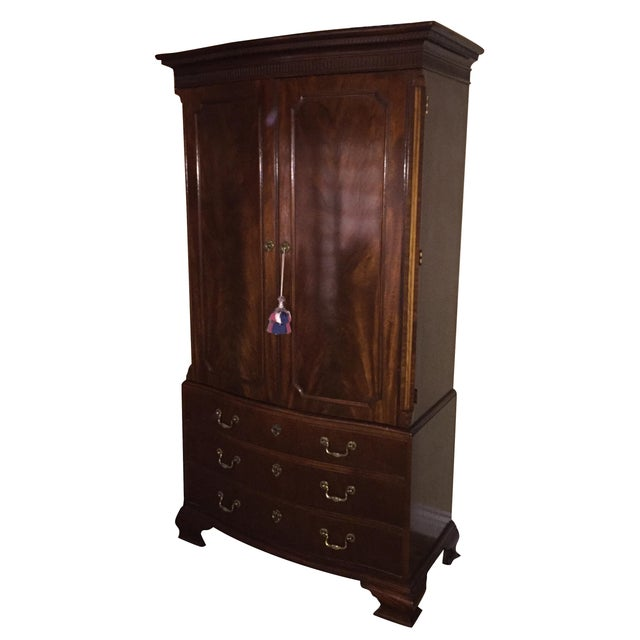 Baker Stately Homes Mahogany Chippendale Armoire - Image 1 of 5
