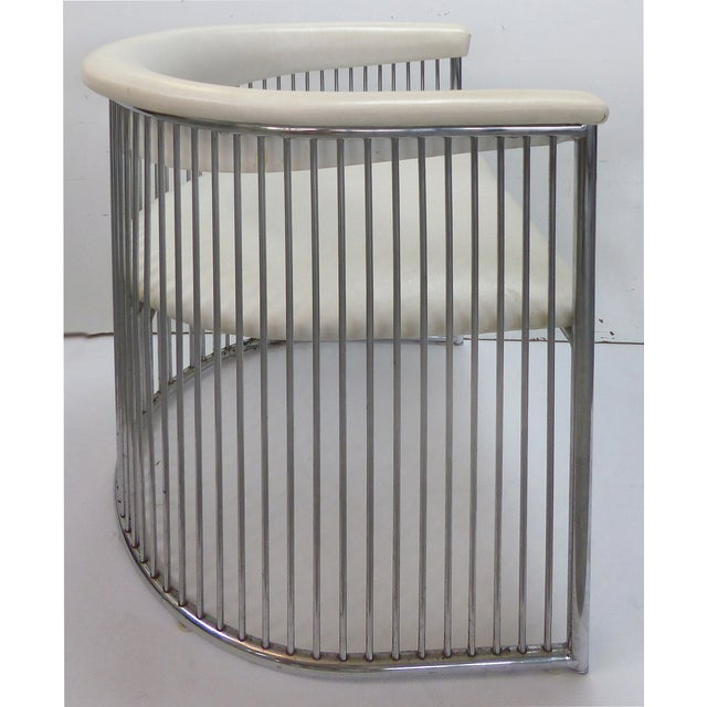 Mid-Century Chrome Barrel Chairs - A Pair - Image 3 of 9