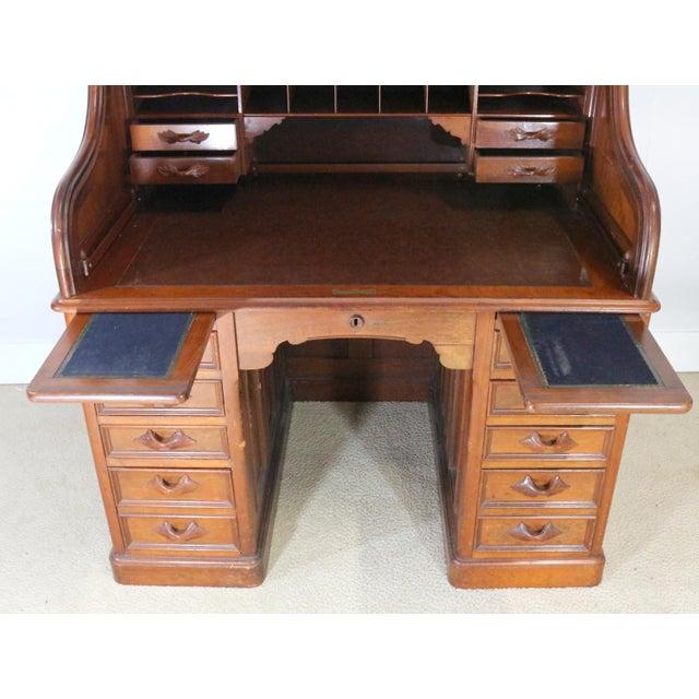 1850s Antique Walnut Bankers Desk - Image 5 of 11 - 1850s Antique Walnut Bankers Desk Chairish