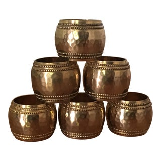 Brass Napkin Rings - Set of 6