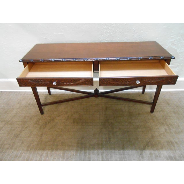 Mariette Himes Gomez Mahogany Console Table - Image 2 of 10